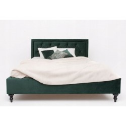 Łóżko tapicerowane welurowe...