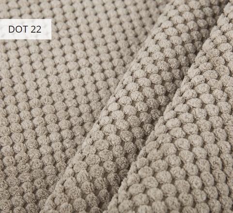 Materiał i kolor DOT 92 dla pufy w formie worka XXXL z podnóżkiem