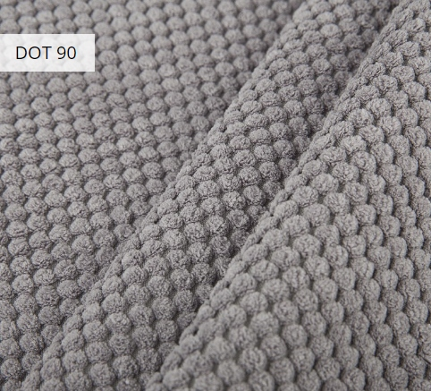 Materiał i kolor DOT 90 dla pufy w formie worka XXXL z podnóżkiem
