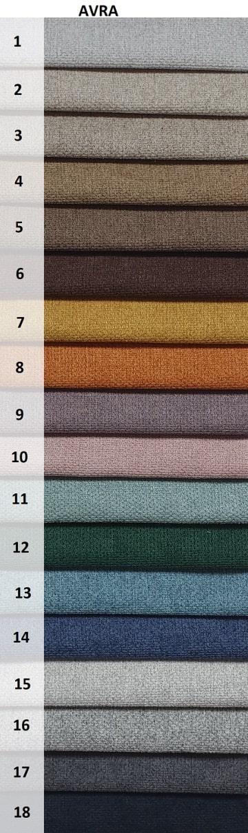 kolory tkaniny Avra na fotel uszak