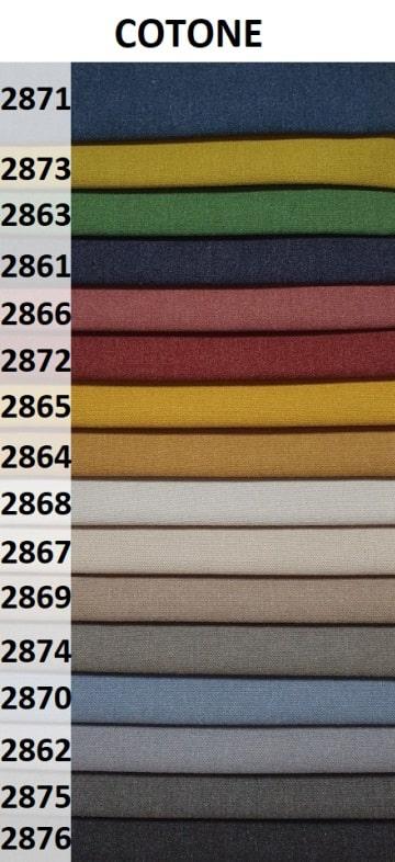 kolory tkaniny Cotone na fotel uszak