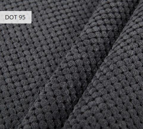 Materiał i kolor DOT 95 dla pufy w formie worka XXXL z podnóżkiem