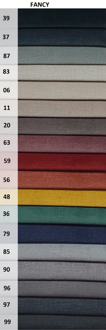 kolory tkaniny Fancy na fotel uszak