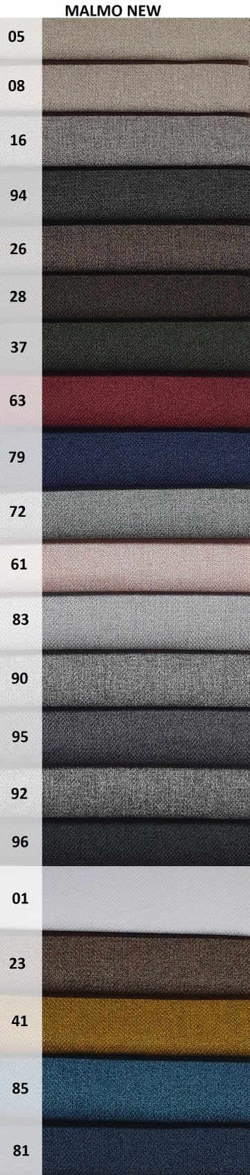 kolory tkaniny Malmo New na fotel uszak