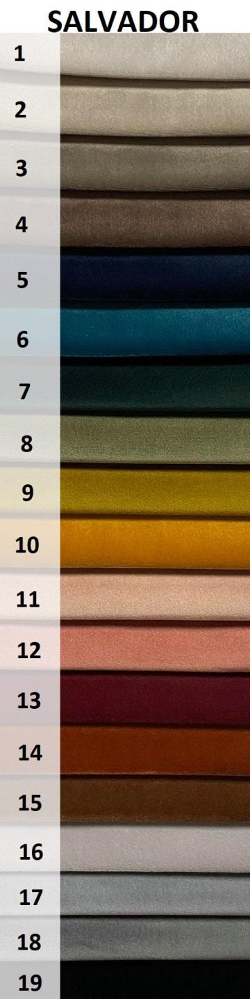 kolory tkaniny Salvador na fotel uszak